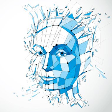 abstract geometric human face