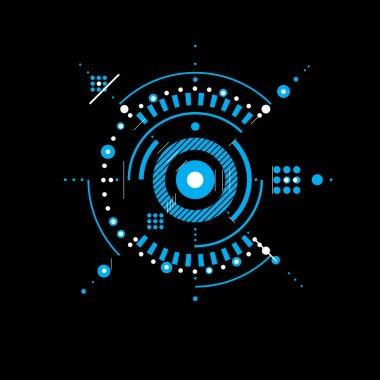 Technical blueprint, geometric background