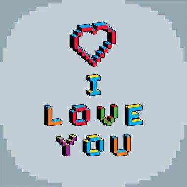 I love you phrase symbol