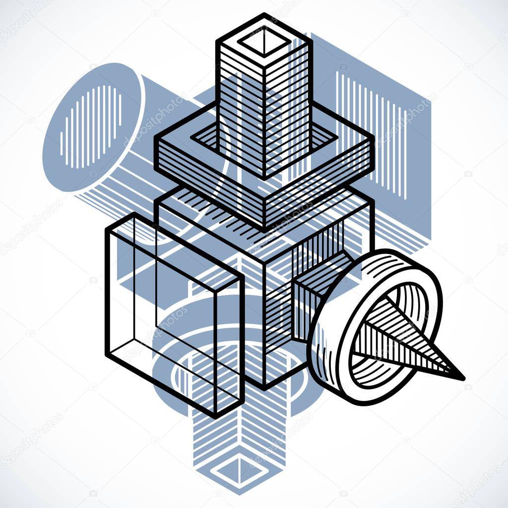 Gut gemocht forme géométrique 3d abstrait — Image vectorielle #129075146 NR78