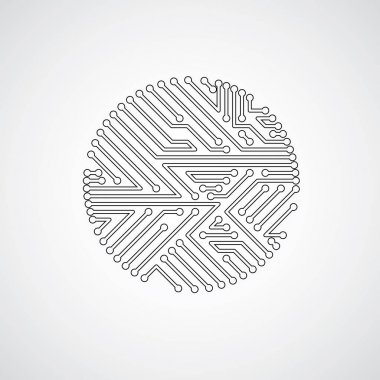 abstract technology of monochrome circle