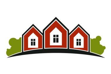 stylish agency symbol of house