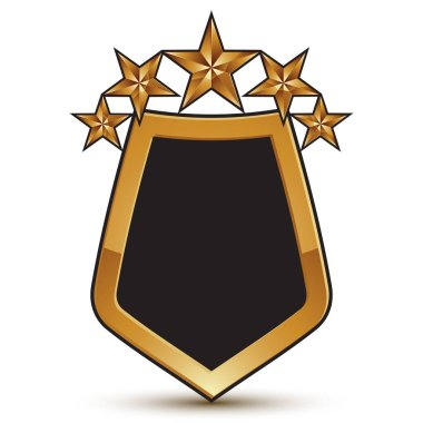 shield shaped blazon with black filling