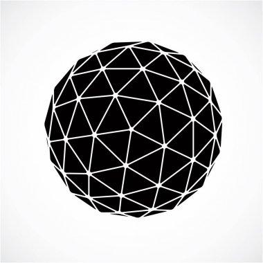 Monochrome dimensional spherical object