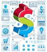 Fotografie Kreative Elemente der Infografik