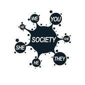 Fotografie Social Relations conceptual logo
