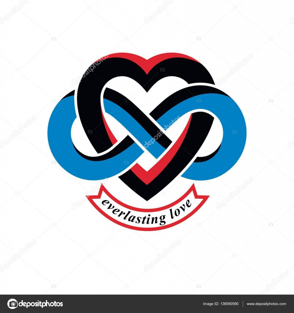 Eternal love conceptual sign stock vector ostapius 136590590 eternal love conceptual sign vector symbol created with infinity loop sign and heart vector by ostapius biocorpaavc