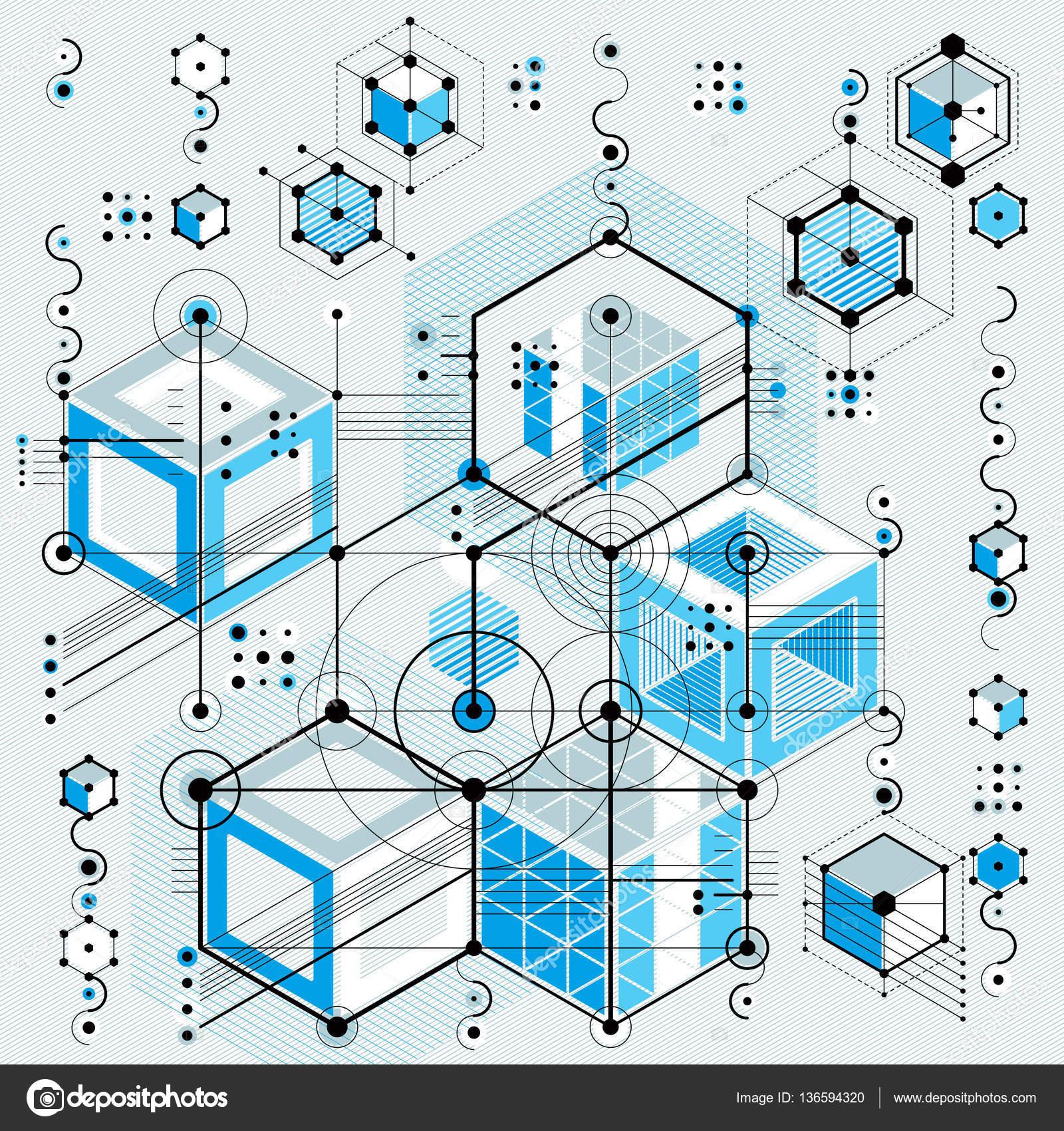 Blueprint con elementos de diseo geomtrico archivo imgenes anteproyecto arquitectnico fondo digital vector con elementos de diseo geomtrico diferente para usar como fondo de pgina web vector de ostapius malvernweather Image collections