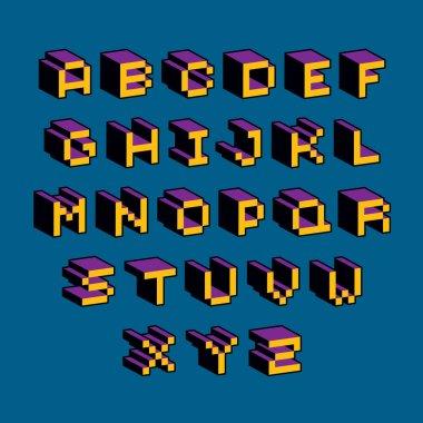 modern tech alphabet letters