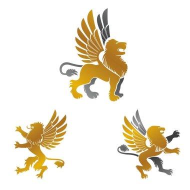 Winged Lion ancient emblems