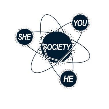Social Relations conceptual logo