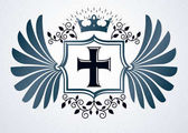 Heraldic emblem icon