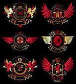 Fotografie Collection of heraldic decorative coat of arms
