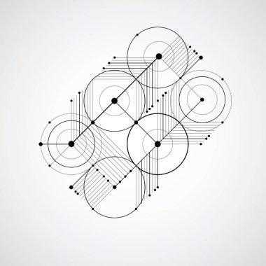 Modular abstract  Bauhaus background