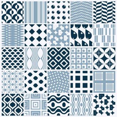 Seamless geometric patterns set, vector illustration clip art vector