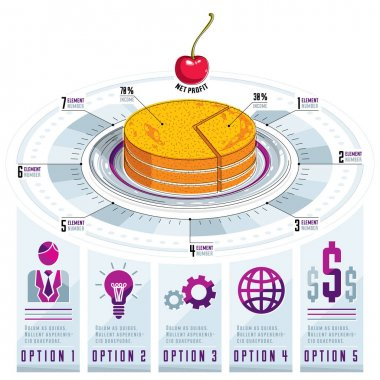 pie infographics concept