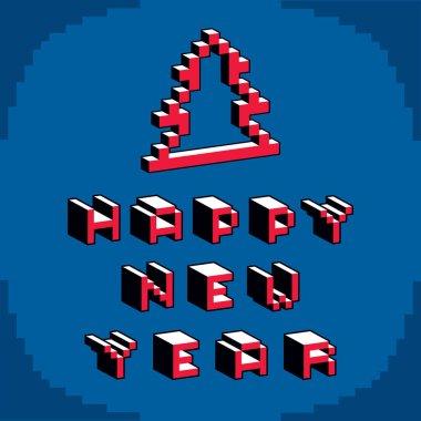 Happy New Year bits card