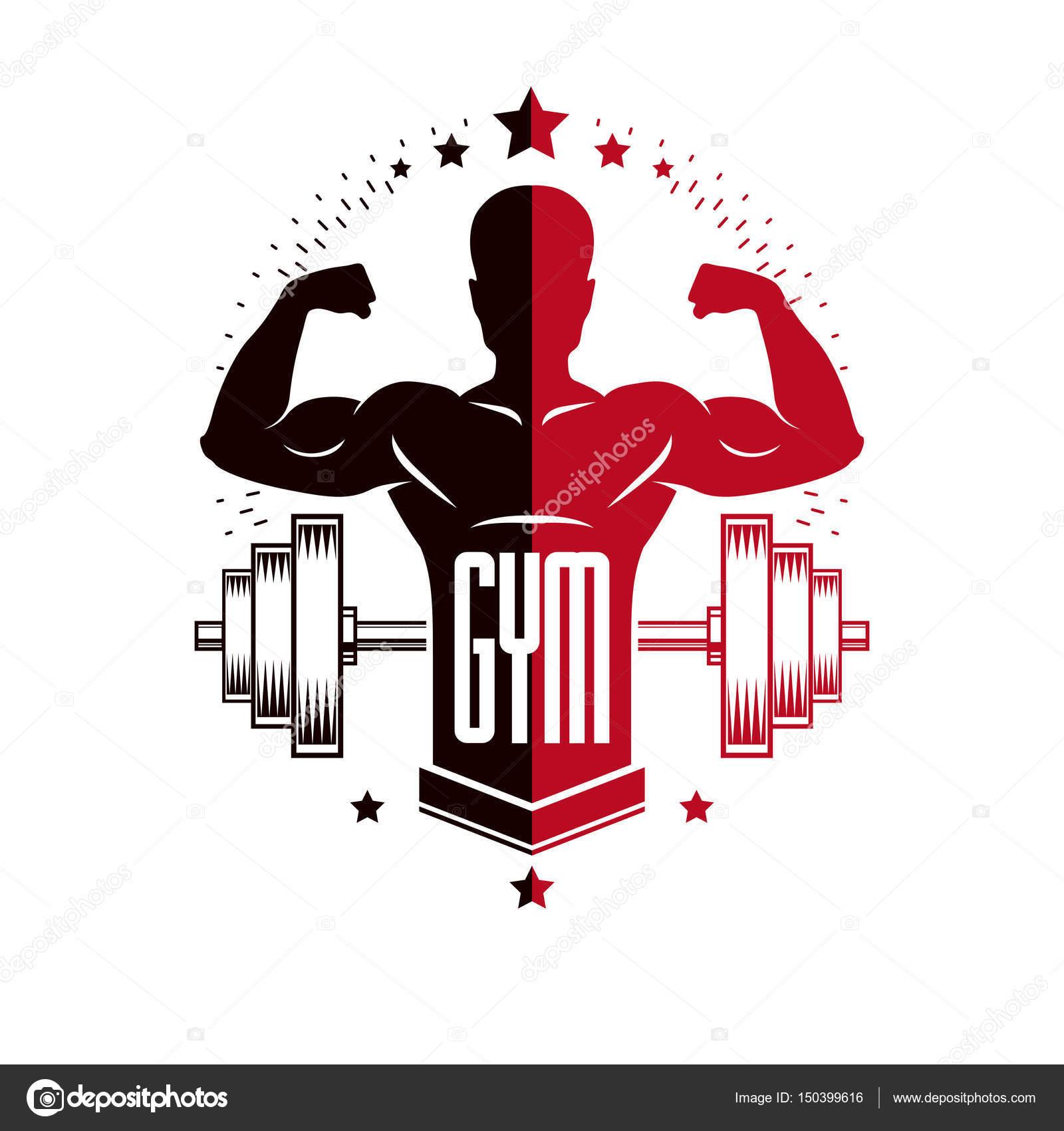 bodybuilding and fitness sport logo stock vector ostapius 150399616