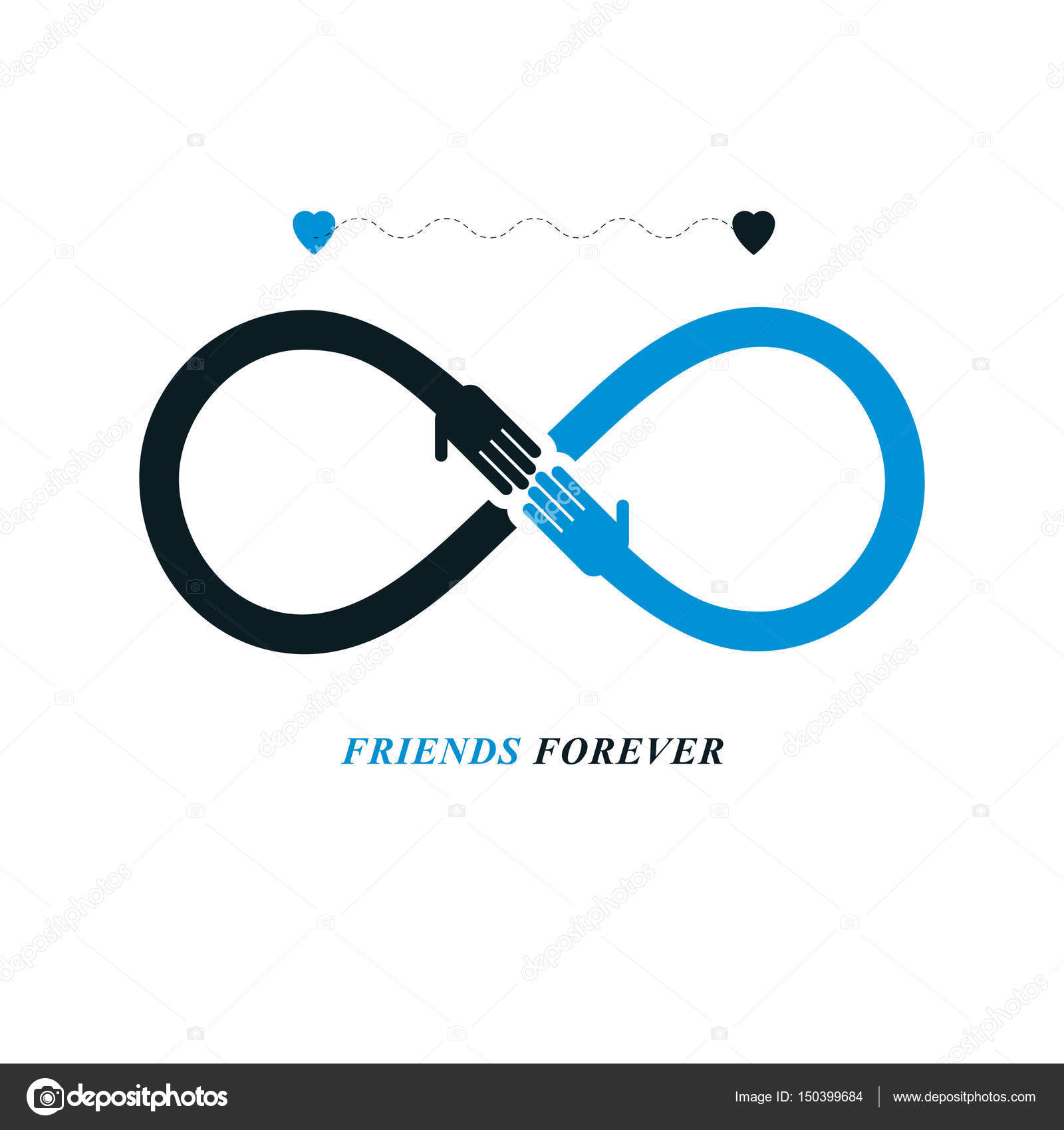 Infinity Sign With Two Hands Stock Vector Ostapius 150399684