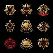 Fotografie set of Royal Heraldic symbols