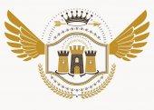 retro heraldic template