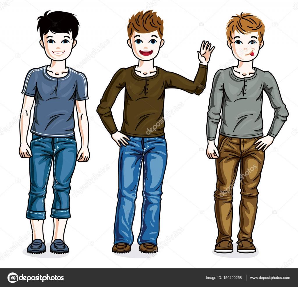 82f4684de8c7cc Teen teen jungen — Stockvektor © Ostapius #150400268