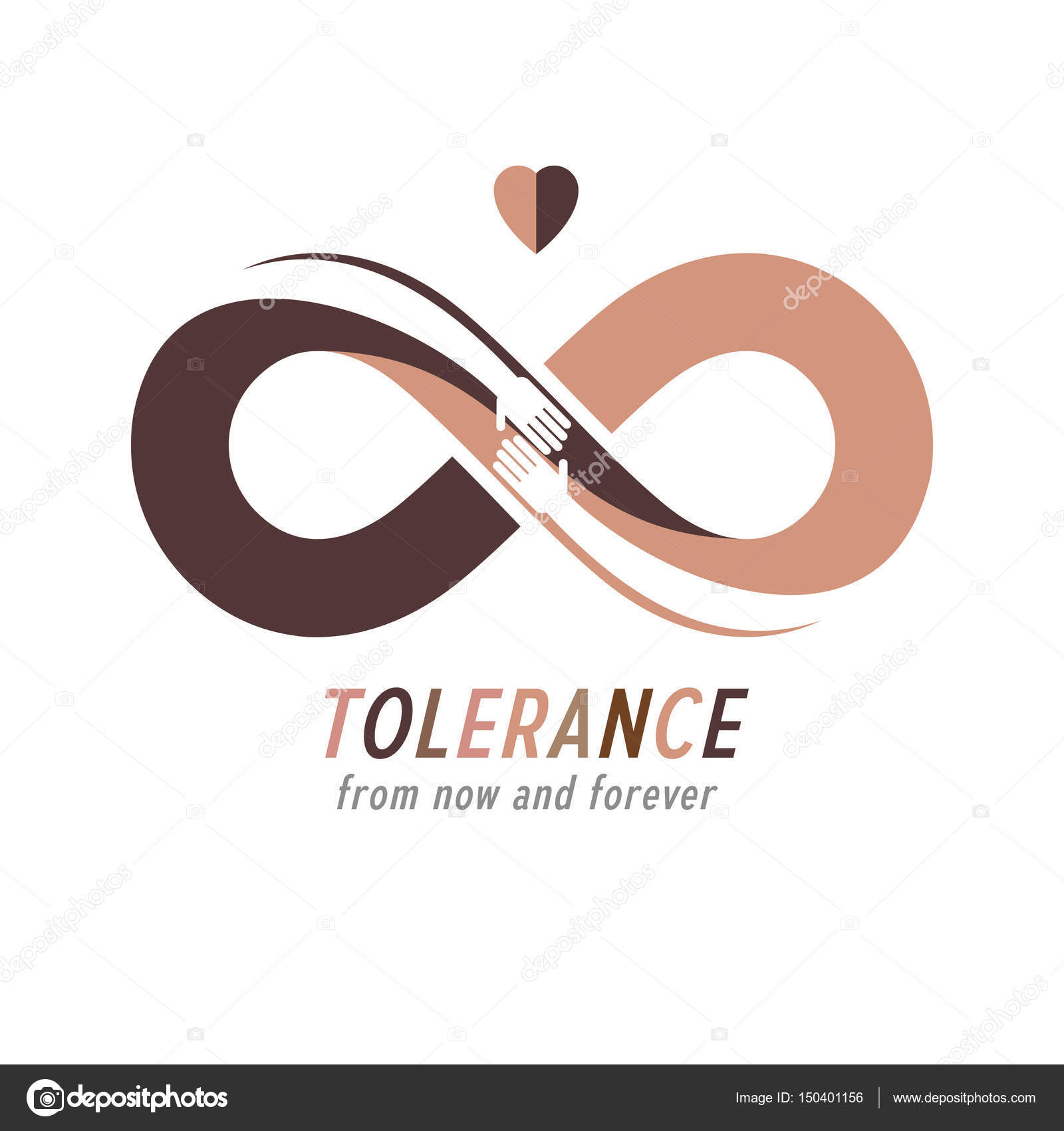 Racial tolerance symbol stock vector ostapius 150401156 racial tolerance conceptual symbol martin luther king day zero tolerance vector symbol created with infinity loop sign and two hands of people of biocorpaavc Image collections