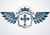 vintage heraldic template