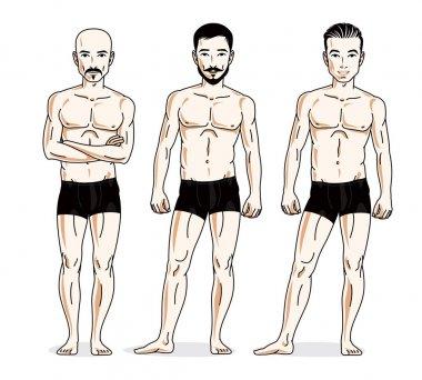 Handsome men group