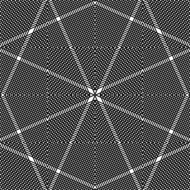 monochrome stripy illusive endless pattern