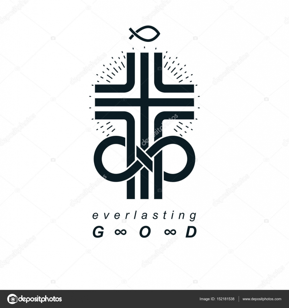 Everlasting god creative symbol stock vector ostapius 152181538 everlasting god vector creative symbol design combined with infinity endless loop and christian cross vector logo or sign vector by ostapius biocorpaavc