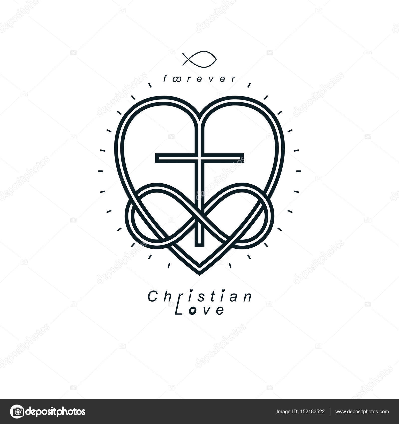 True infinite christian love and belief in god stock vector true infinite christian love and belief in god vector creative symbol design combined with infinity eternal loop and christian cross vector logo or sign biocorpaavc Images