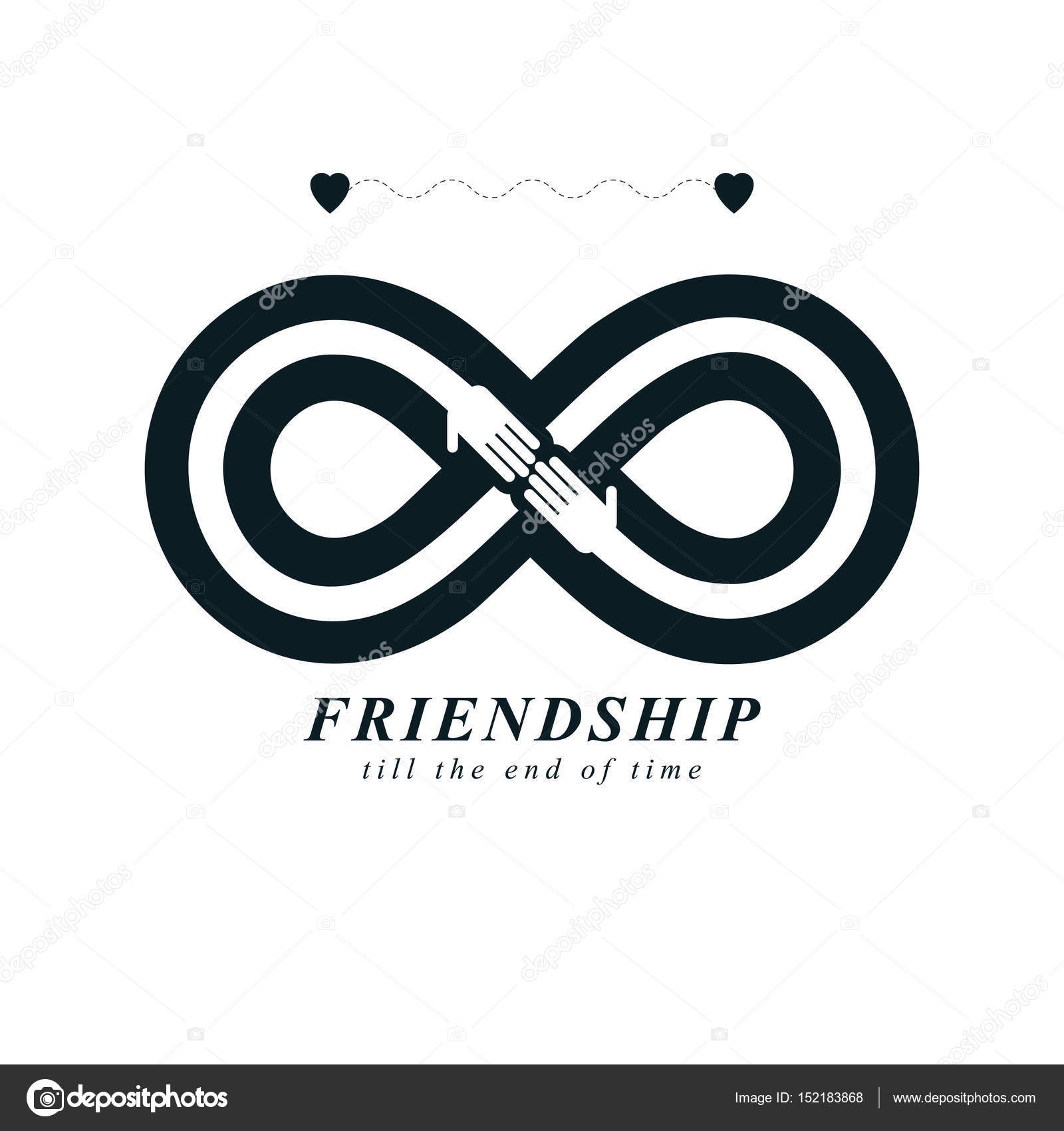 Infinity Sign With Two Hands Touching Each Other Stock Vector