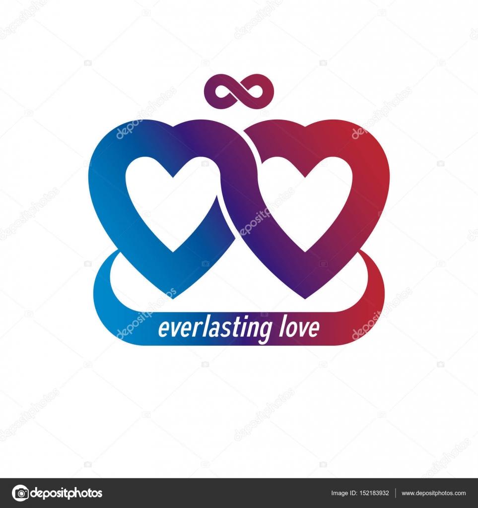Infinito concetto di amore — Vettoriali Stock ...