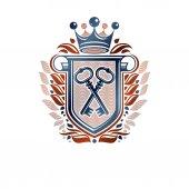 Creative vintage emblem