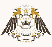 Classy emblem heraldic Coat of Arms.