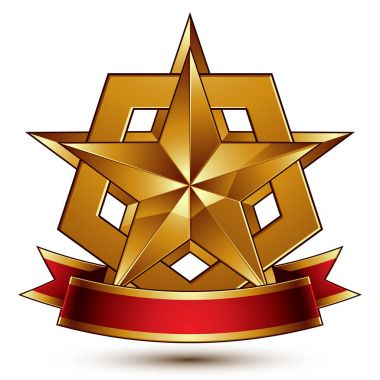 Heraldic golden symbol