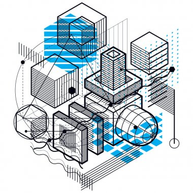 Isometric abstract background