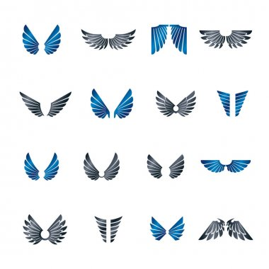 Freedom Wings emblems set.