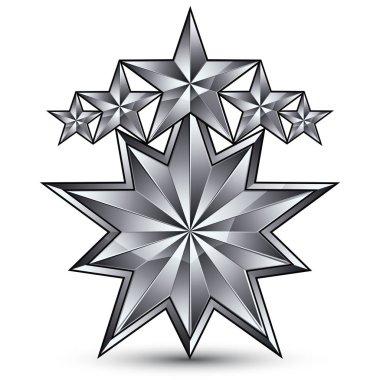 pentagonal silvery star symbo