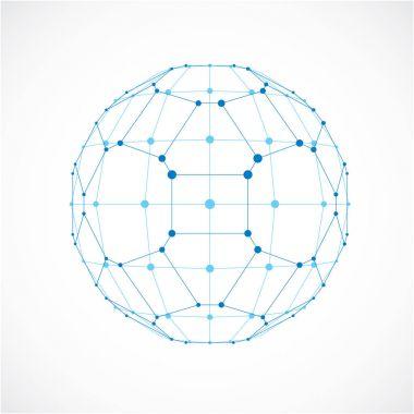 dimensional wireframe low poly object