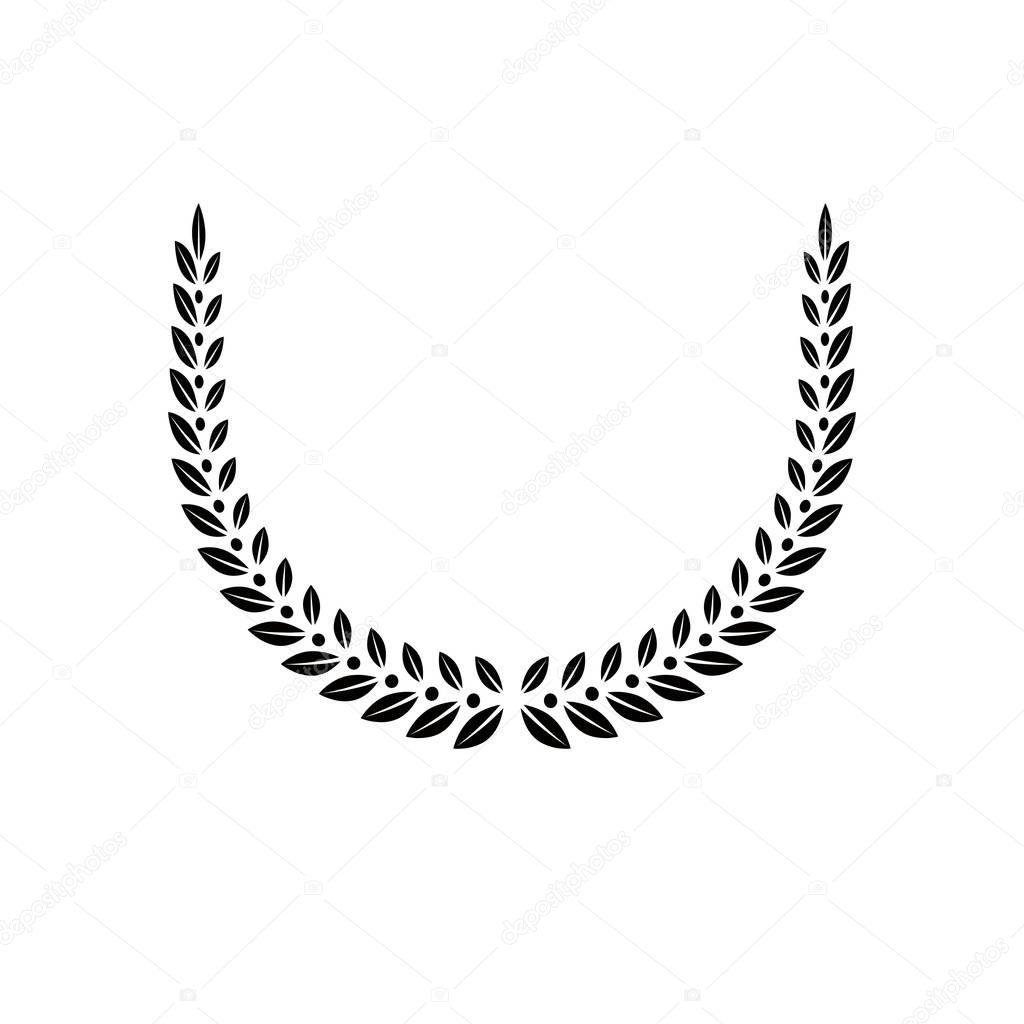Laurel Wreath floral heraldic element.