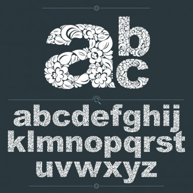 Set of ornate lowercase letters