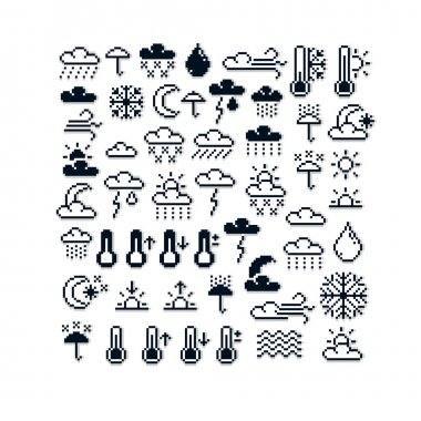 collection of 8bit meteorology elements