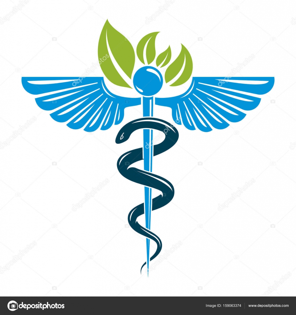 Caduceus symbol composed with poisonous snake stock vector caduceus symbol composed with poisonous snake and bird wings healthcare conceptual vector illustration alternative medicine theme vector by ostapius buycottarizona Image collections