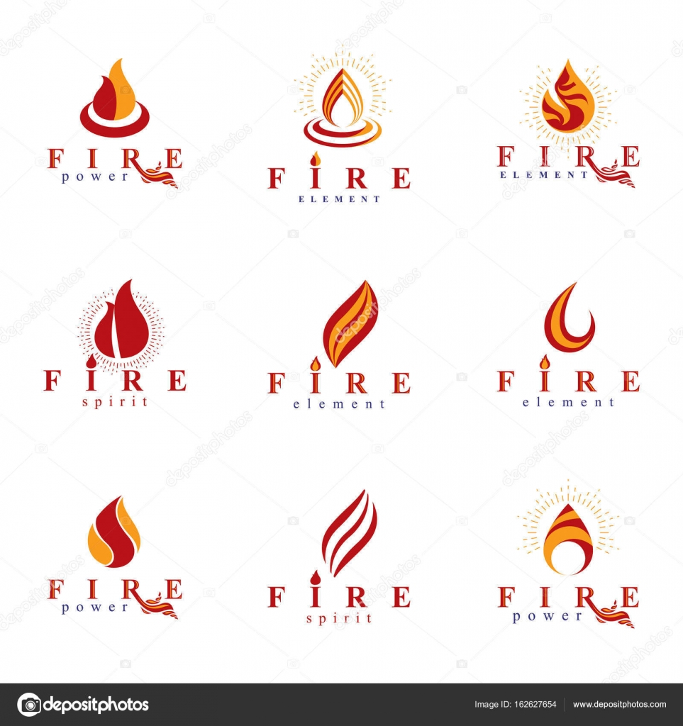 Burning Flame Symbols Stock Vector Ostapius 162627654
