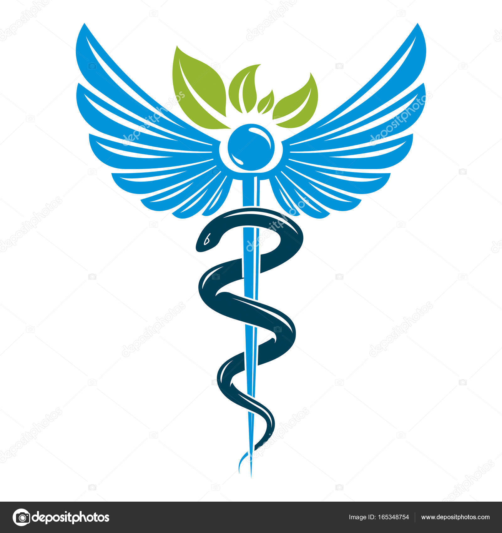 Caduceus symbol composed with poisonous snakes and bird wings caduceus symbol composed with poisonous snakes and bird wings stock vector biocorpaavc Image collections