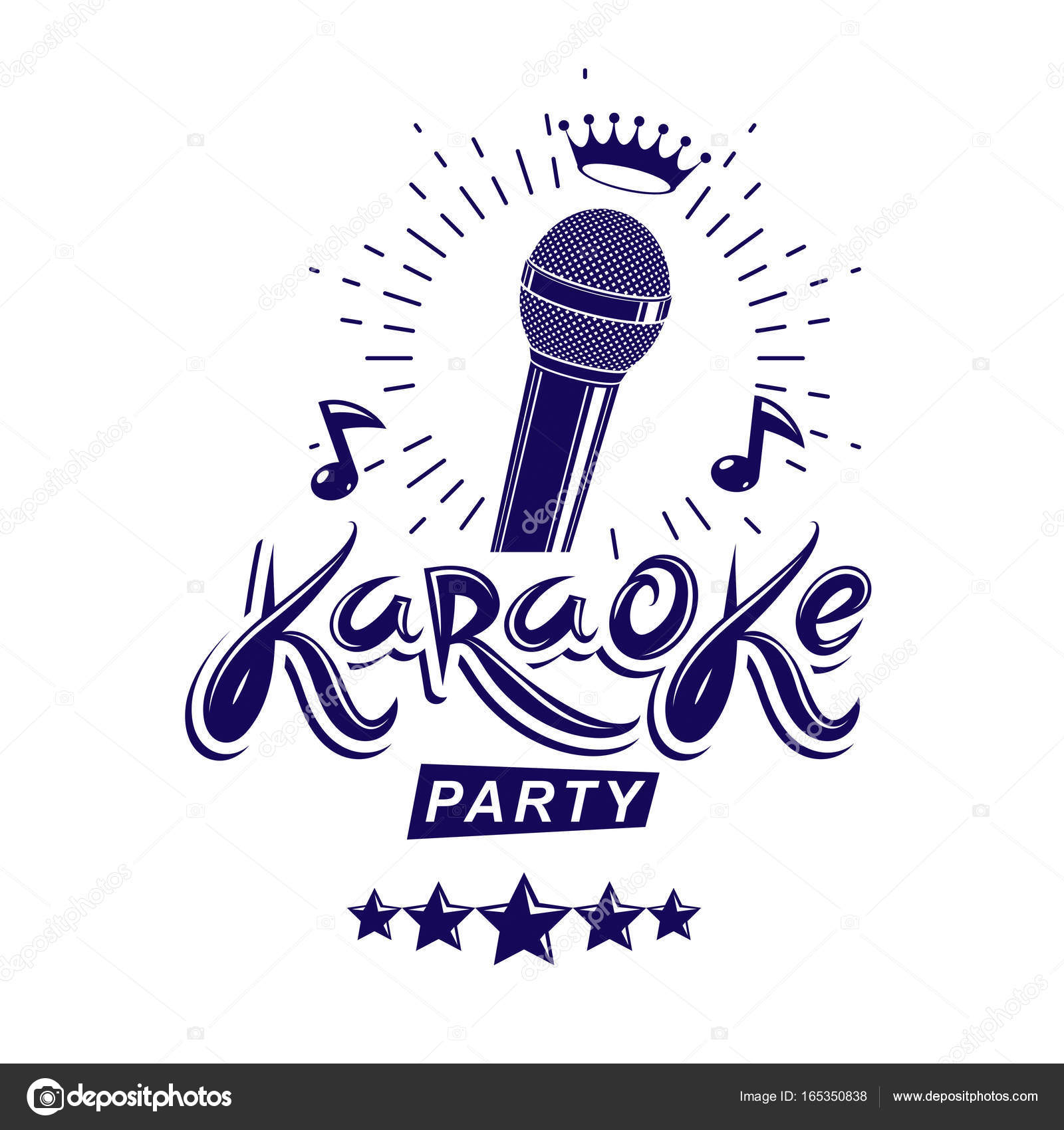 Karaoke party invitation poster, live music vector — Stock Vector ...