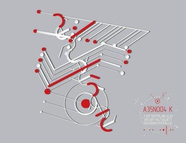 Abstract blueprint of mechanism