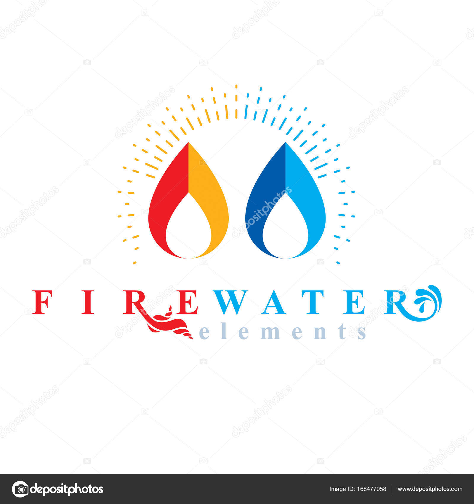 Fire and water logo stock vector ostapius 168477058 fire and water logo stock vector biocorpaavc Choice Image